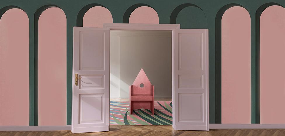 Stranger Pinks в интерьерах виллы Джо Понти