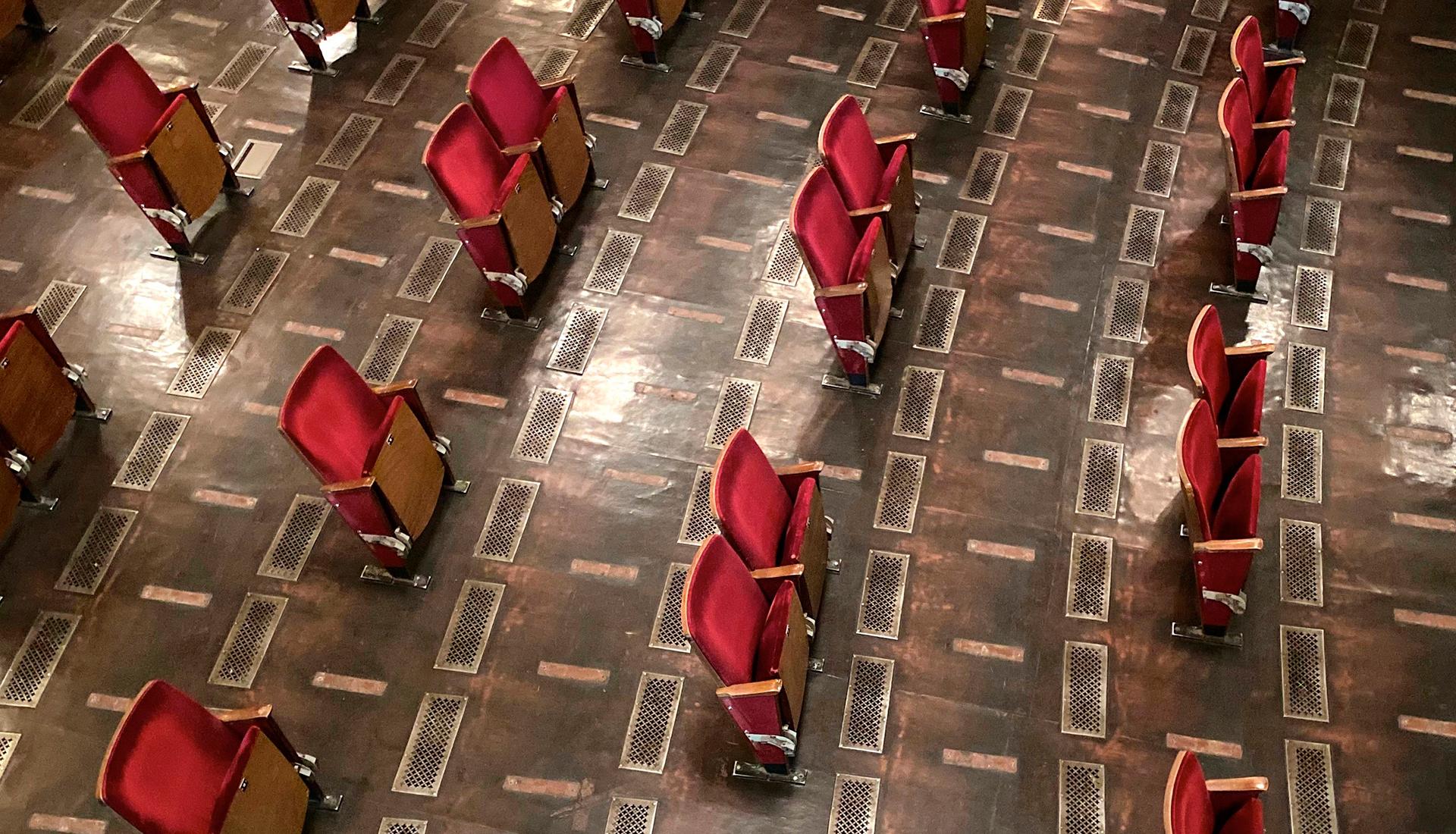 Социальное дистанцирование в берлинском театре