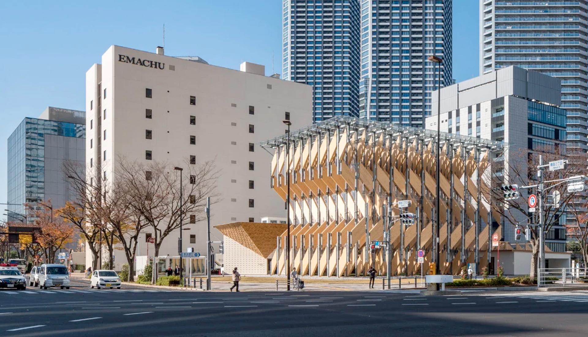 Кенго Кума: деревянный павильон в Токио