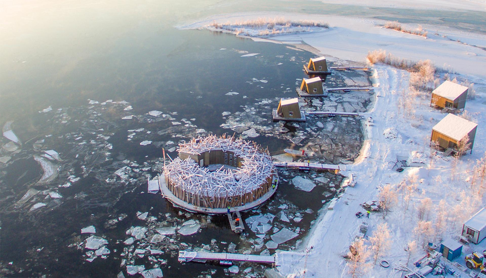 Плавучий отель в Швеции