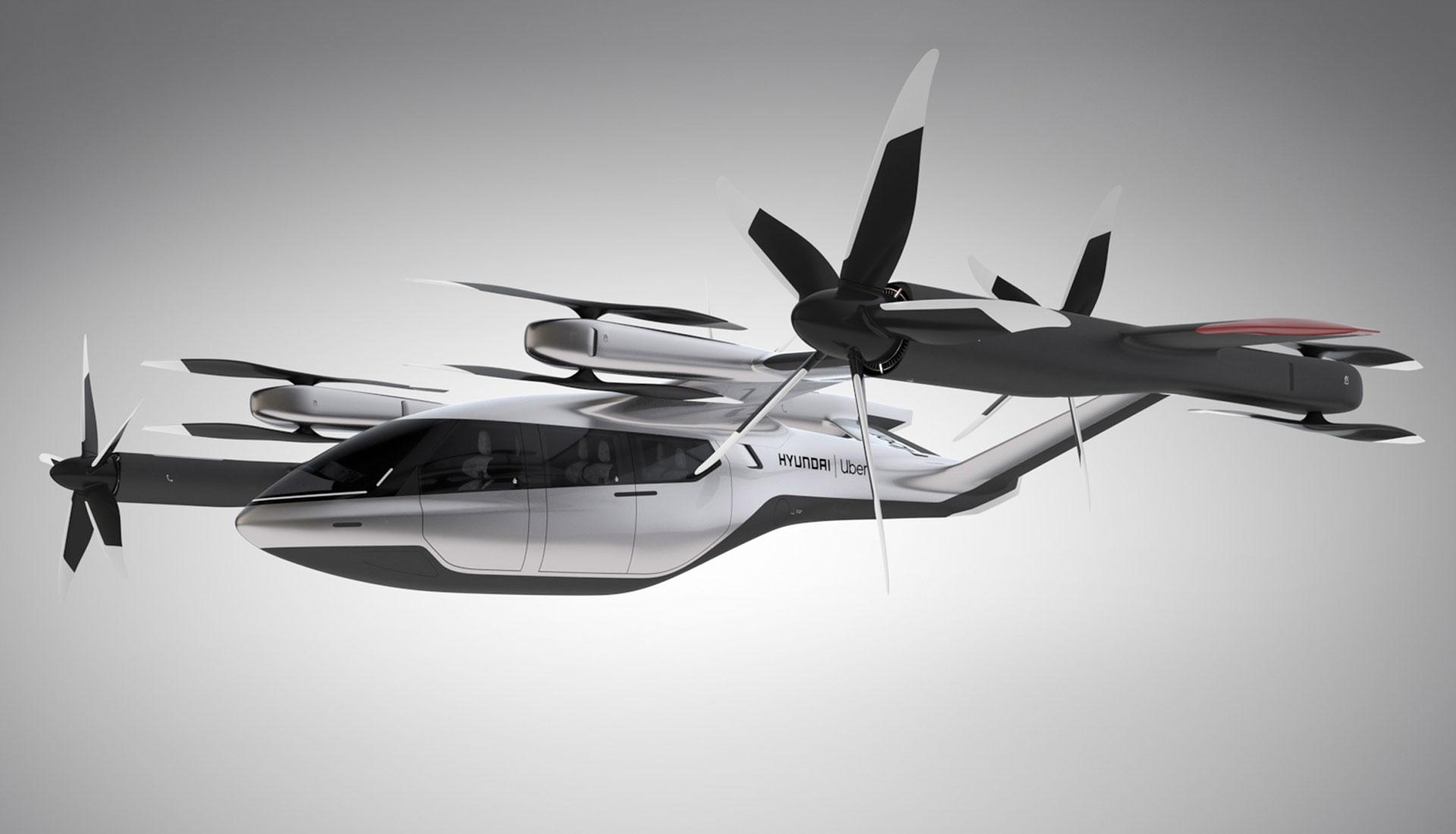 Uber и  Hyundai запустят службу летающего такси