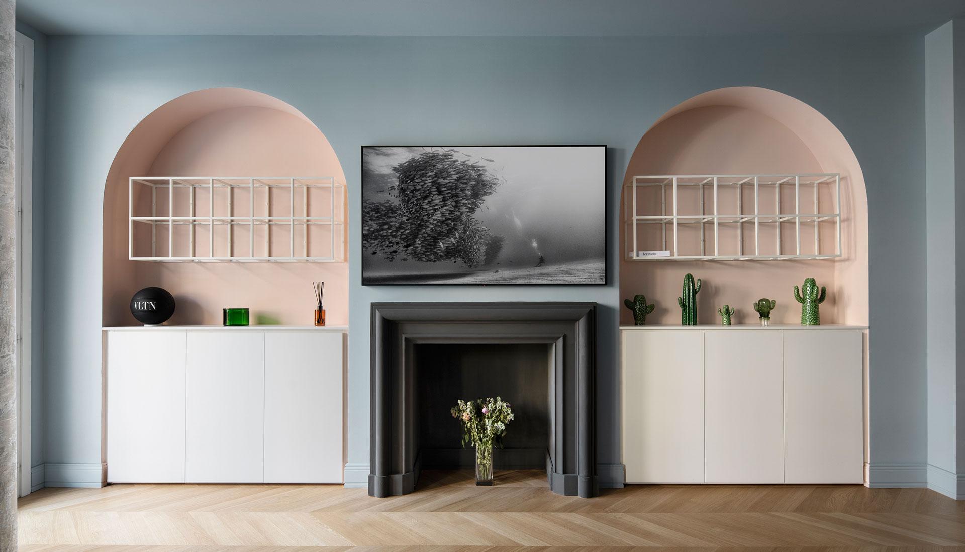 Миланский интерьер в пастельных тонах по проекту lcrStudio