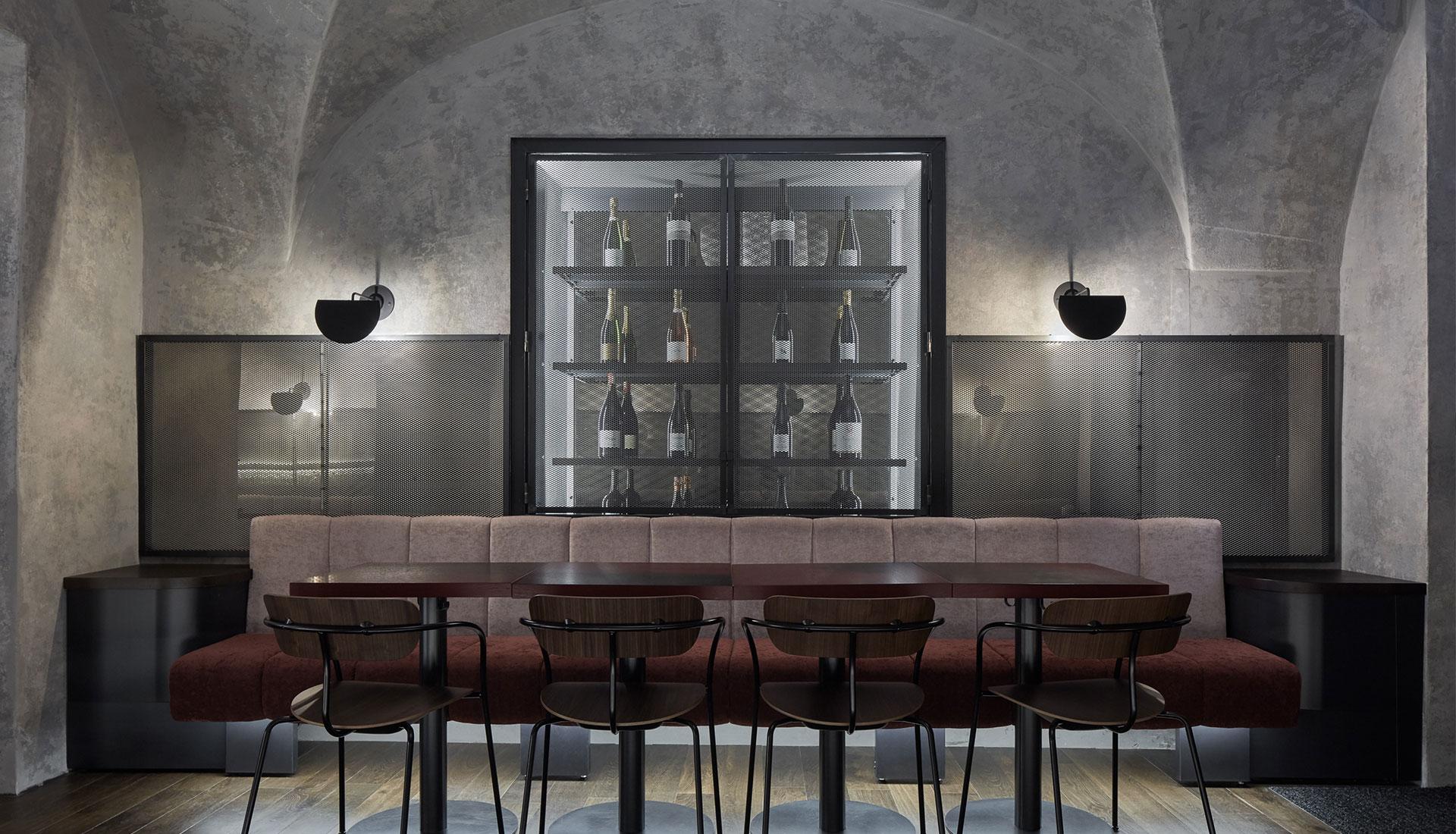 Винный бар в Праге по проекту Formafatal