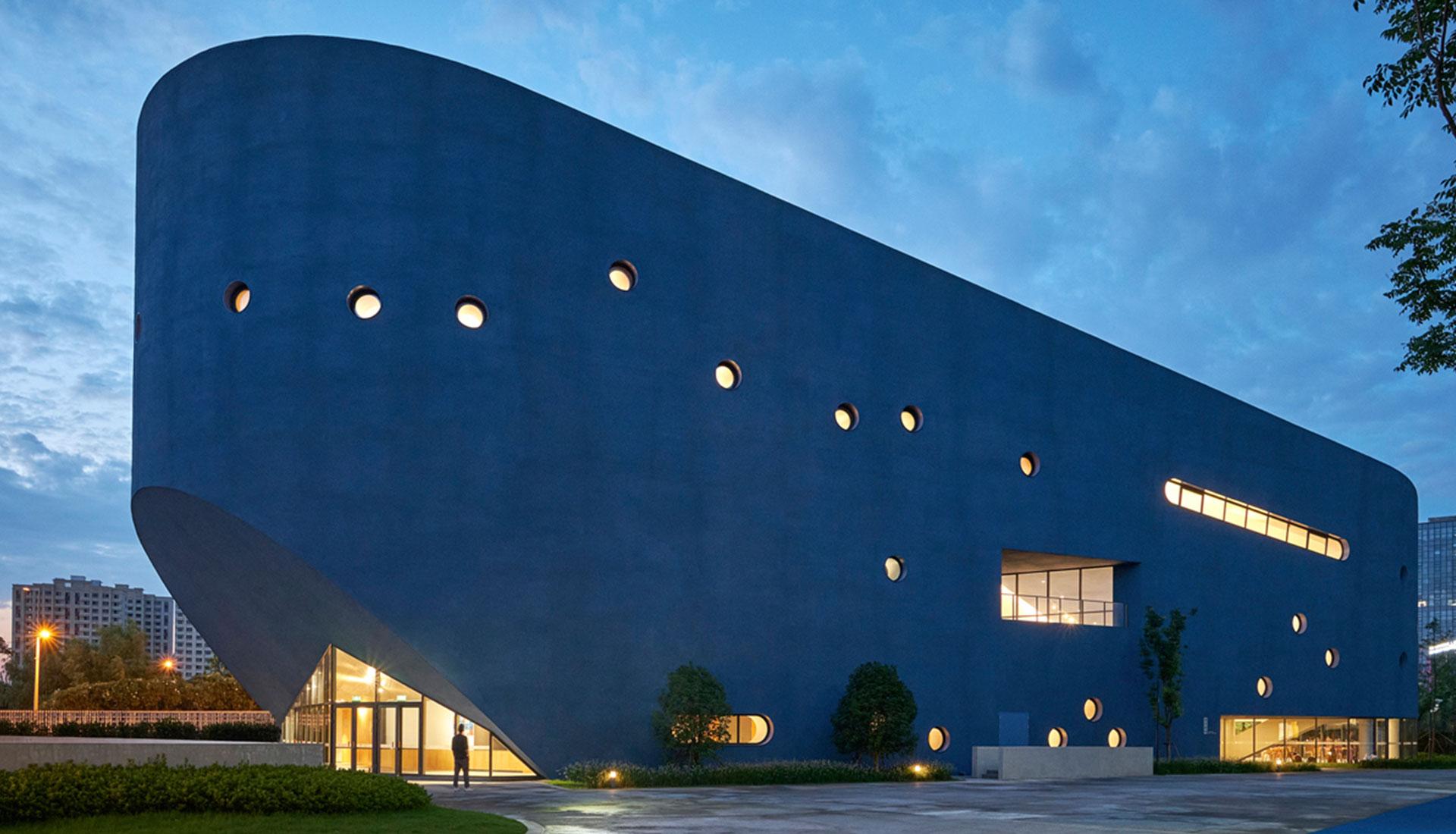 Школьная библиотека и театр в Шанхае по проекту OPEN Architecture