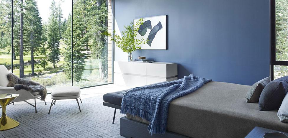 Спальня в синих оттенках: 25 лучших решений