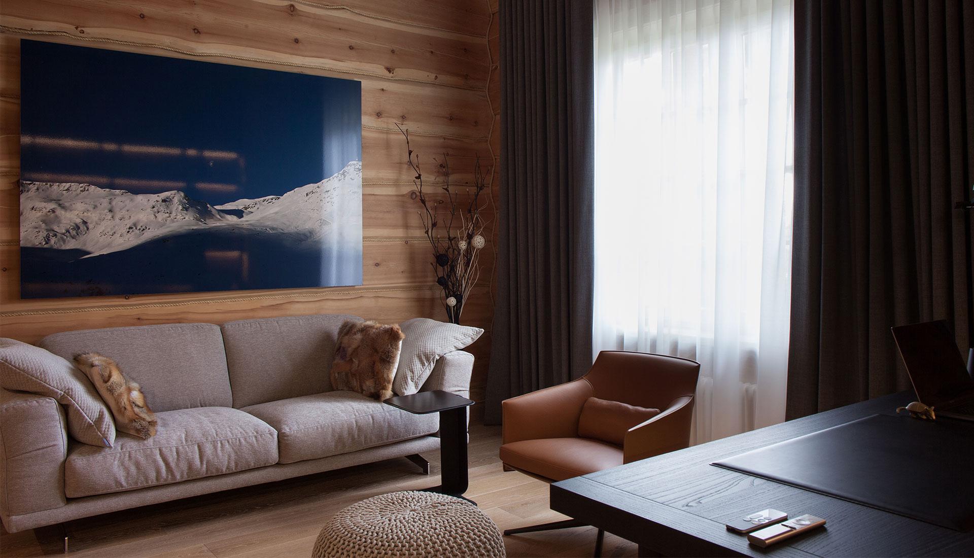 Александр Басов: деревянный дом с современным интерьером