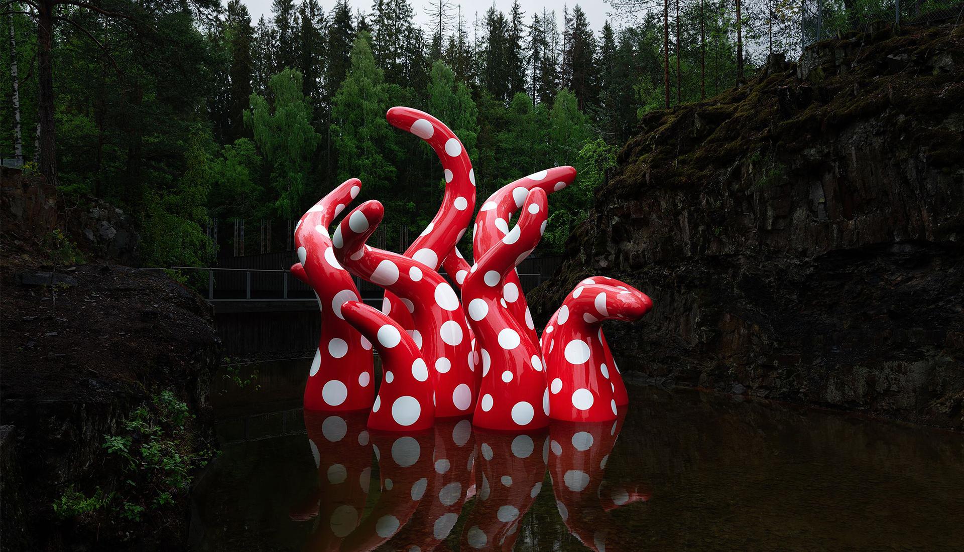 Парк скульптур Кистефос в Норвегии