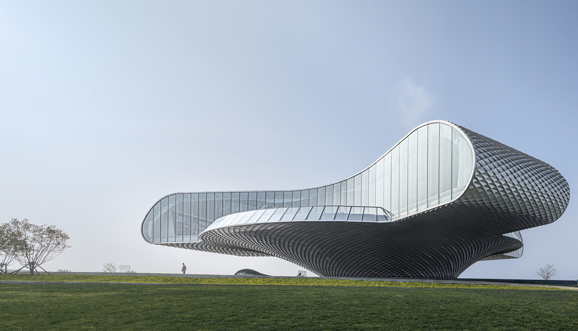 Музей-волна в Китае по проекту Lacime Architects