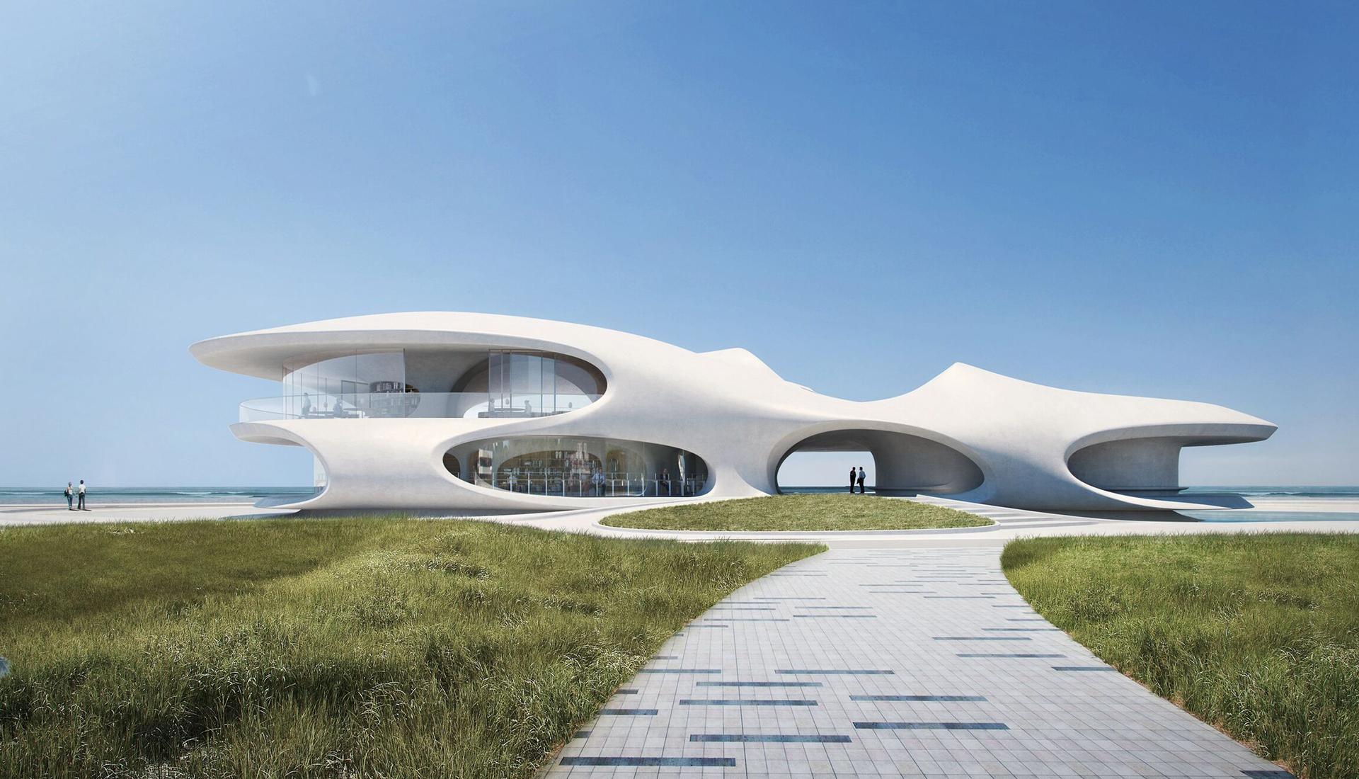 MAD Architects: проект библиотеки наострове Хайнань