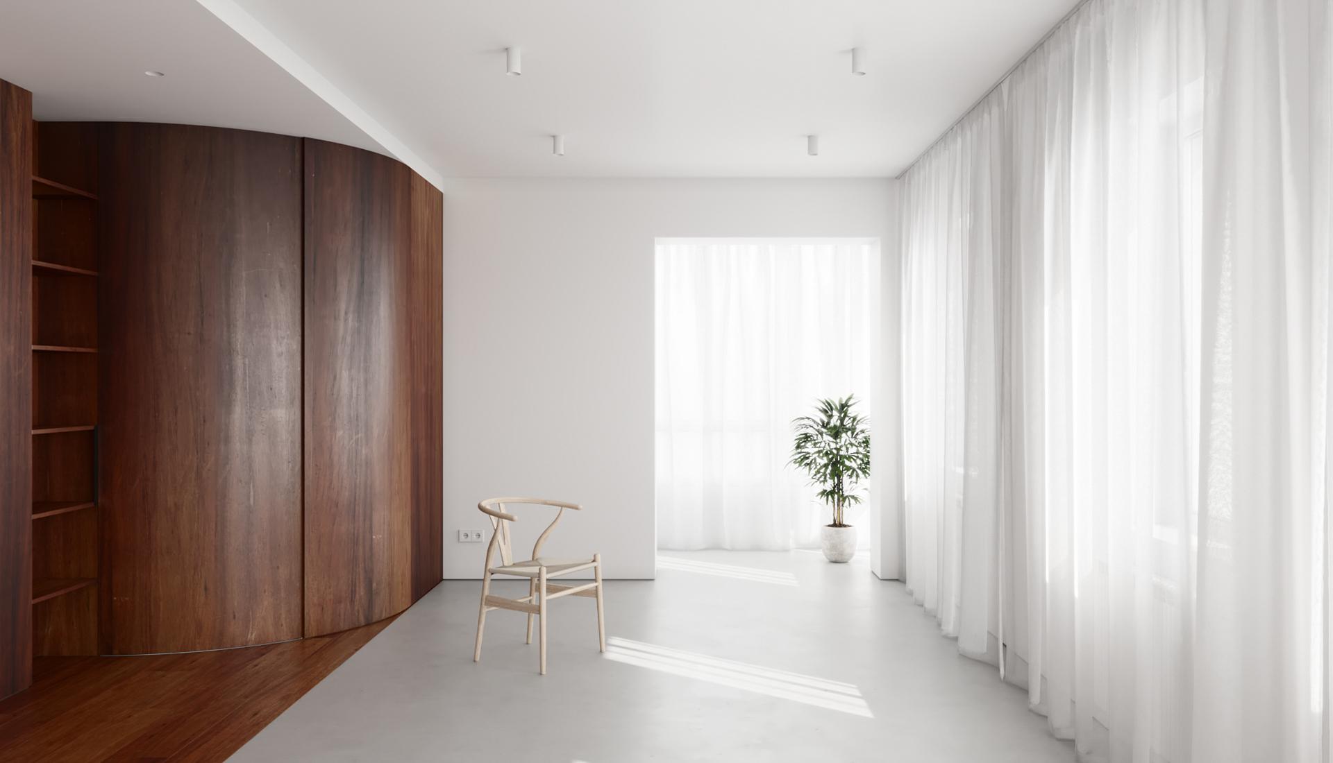 Квартира 55 кв. метров: нью-нордик в Москве по проекту Pogodin Rogov Group