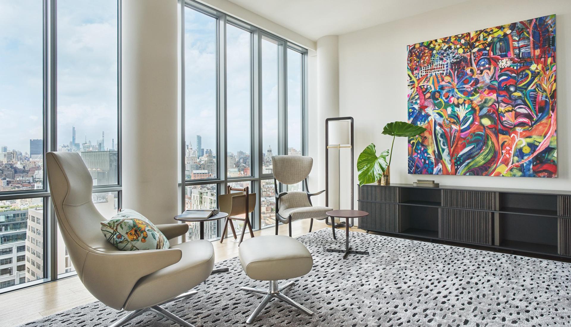 Poltrona Frau: апартаменты в небоскребе Ренцо Пьяно в Нью-Йорке