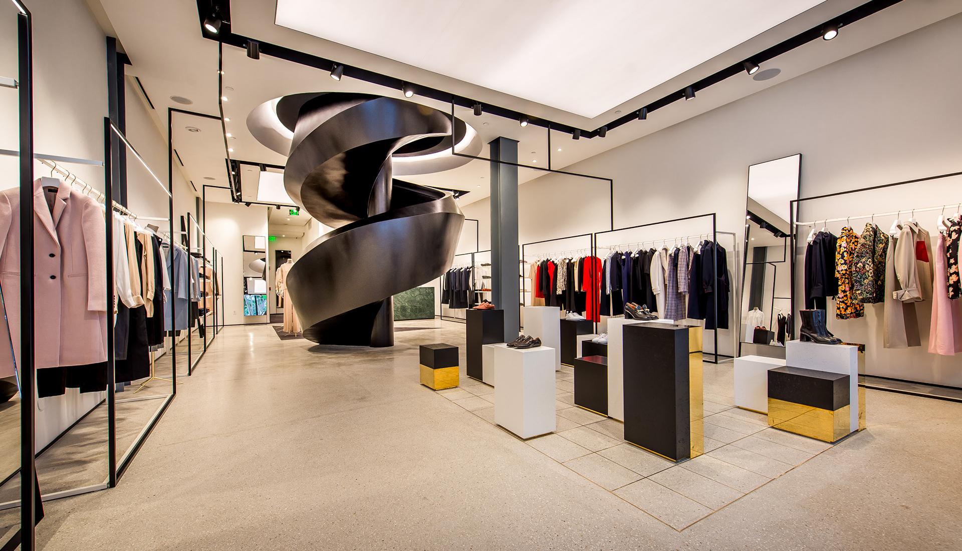 Sybarite studio: бутик Joseph со скульптурной лестницей