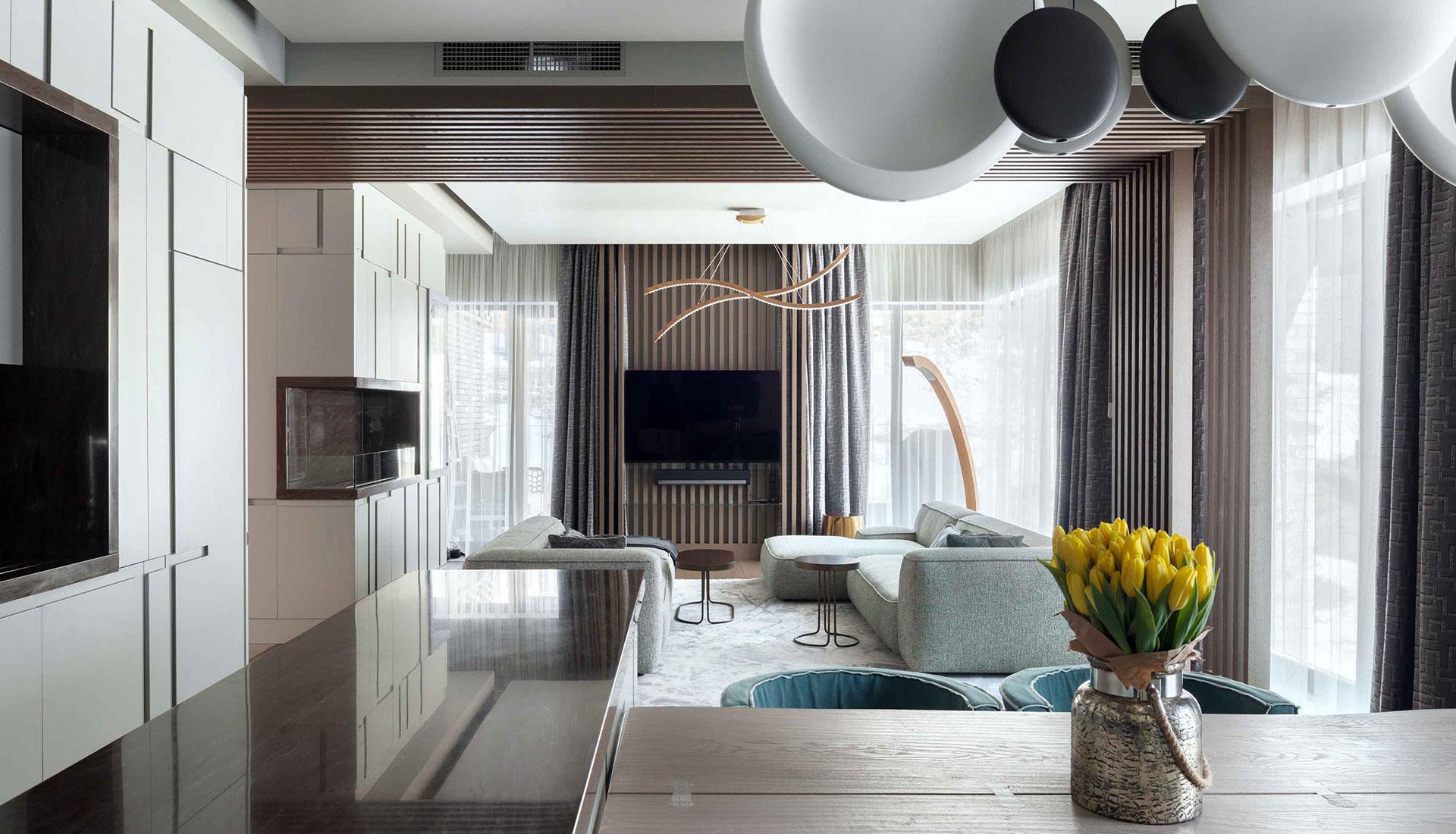 Светлая квартира 220 кв. метров по проекту бюро «ДИА»
