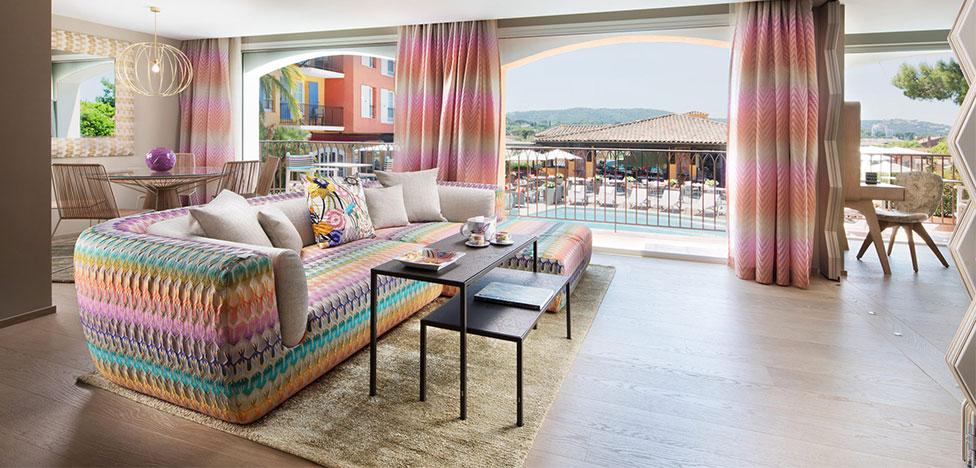 Riviera Suite: фирменный интерьер Missoni