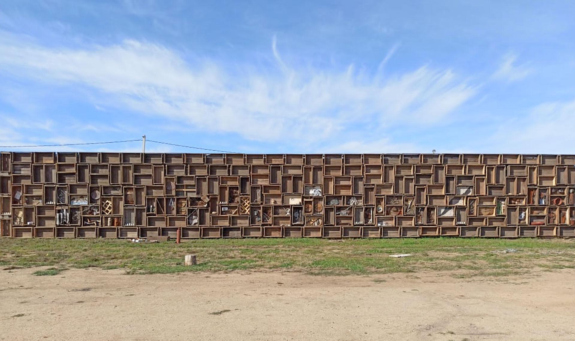 АРХИWOOD 2020: сожженный мост, стена-музей, ротонда в Выксе