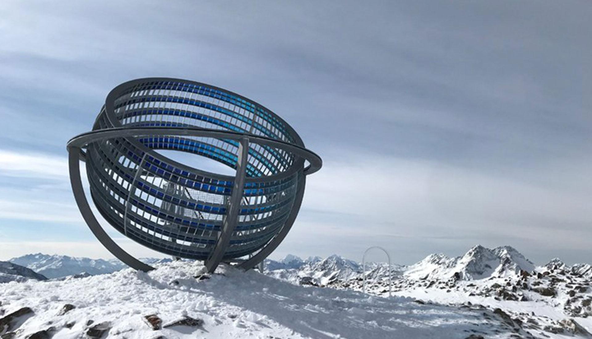 Инсталляция Олафура Элиассона в Альпах