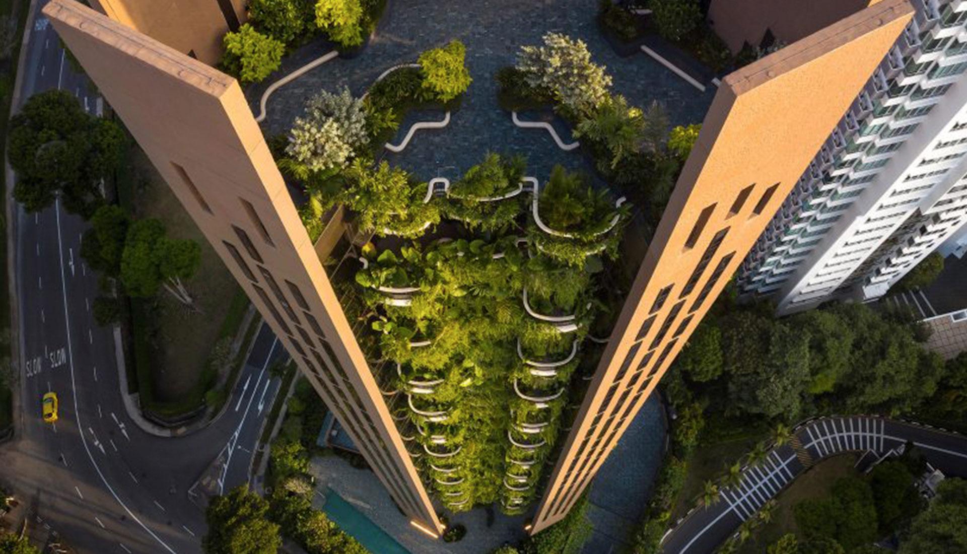 Томас Хизервик завершил проект жилого дома в Сингапуре