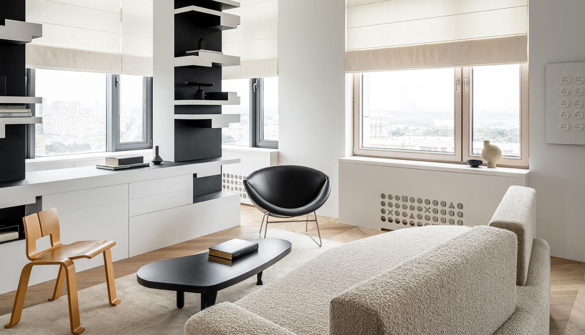 Сергей Храбровский: черно-белая квартира в Москве