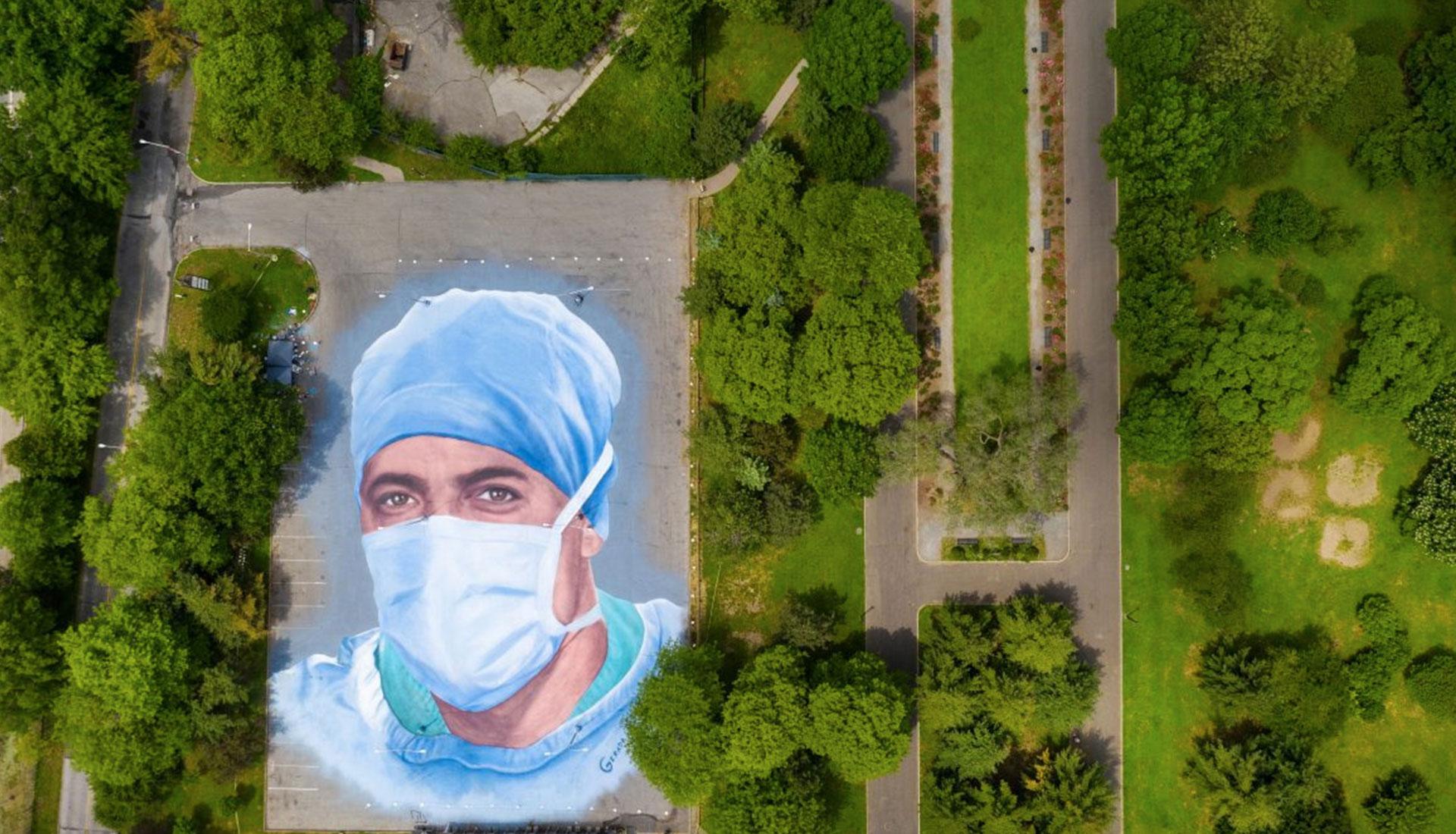 Стрит-арт во время пандемии Covid-19