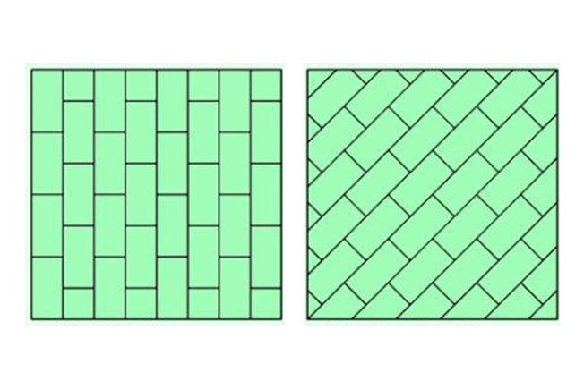 способы укладки плитки в ванной фото