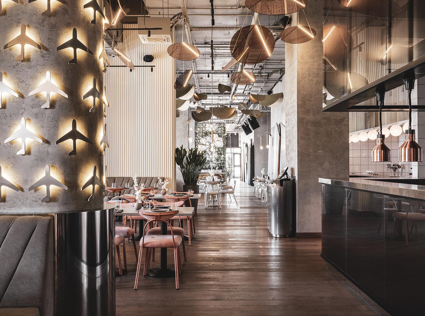 Ресторан Полет интерьеры фото