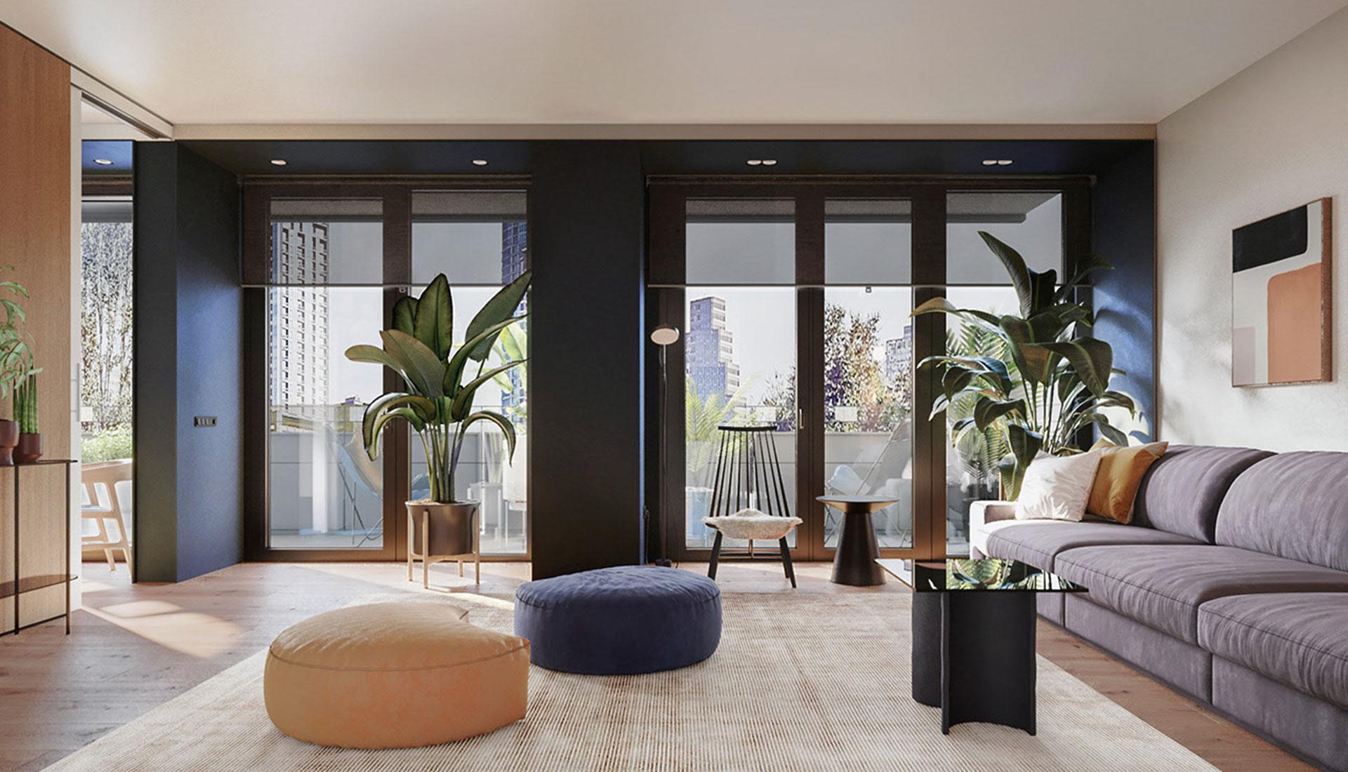 Перепланировка квартиры в Барселоне по проекту YLAB Arquitectos •  Интерьер+Дизайн