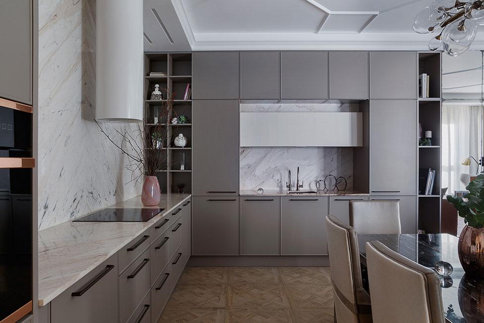 Дизайн серой кухни фото