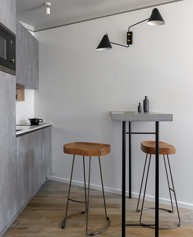 Кухня в сером цвете фото