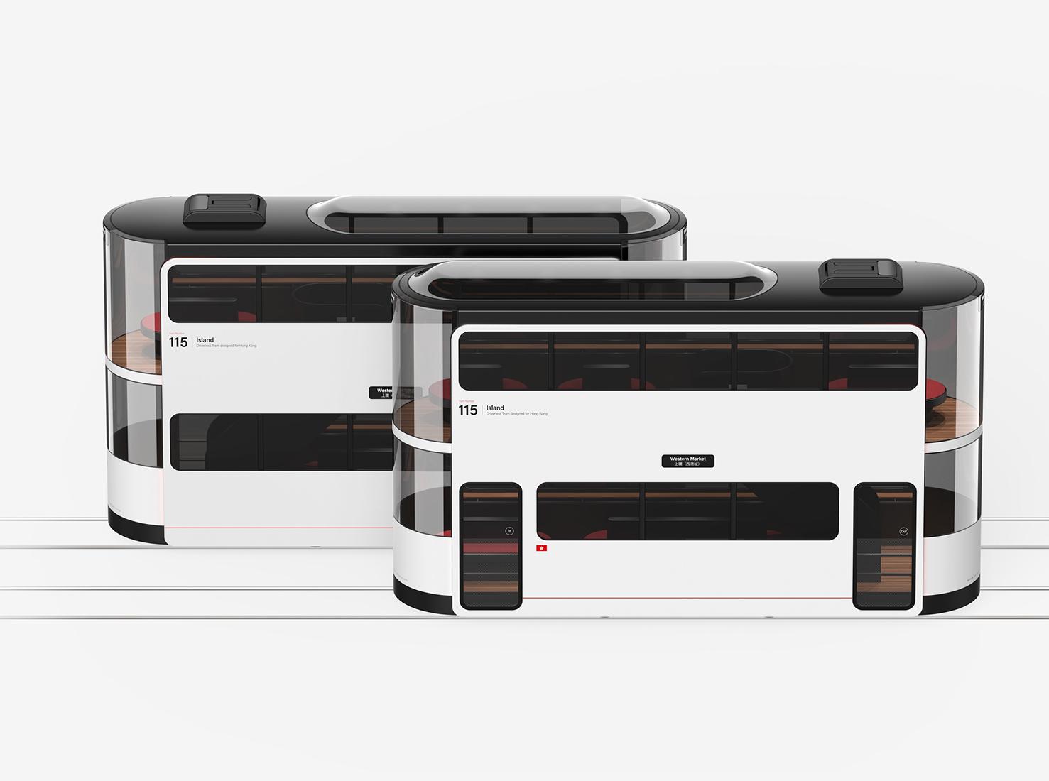 Двухэтажный трамвай фото