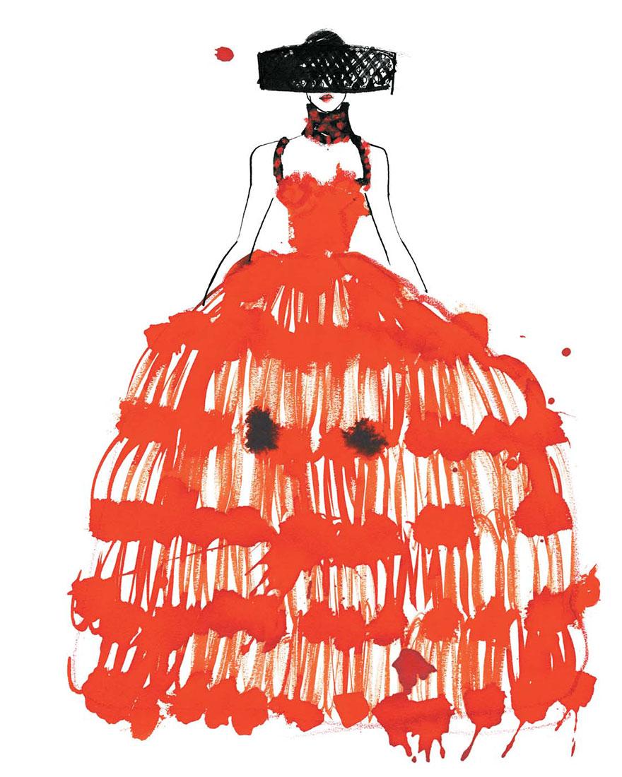 Модный эскиз фото