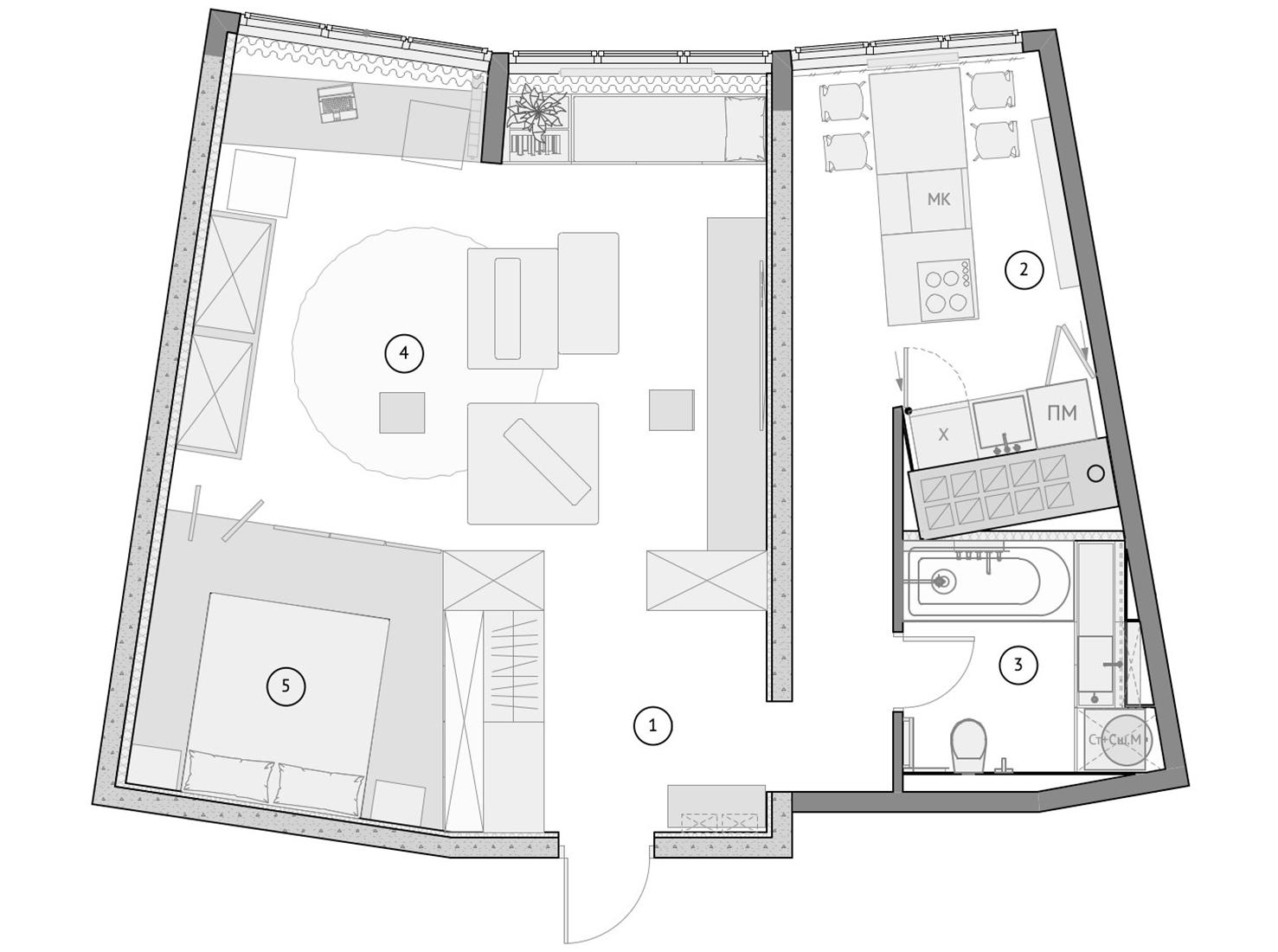 Планировка квартиры 60 кв. м фото