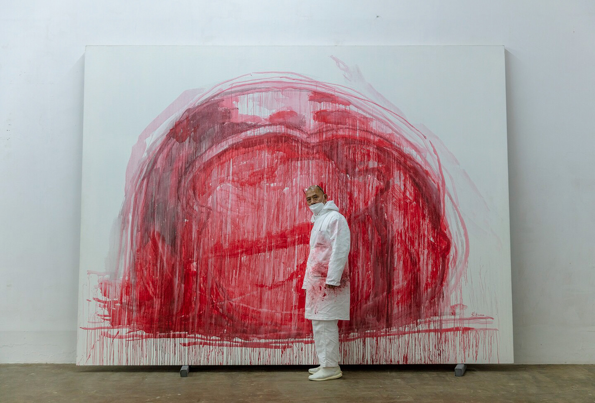 Выставка Чжан Хуаня в Эрмитаже фото