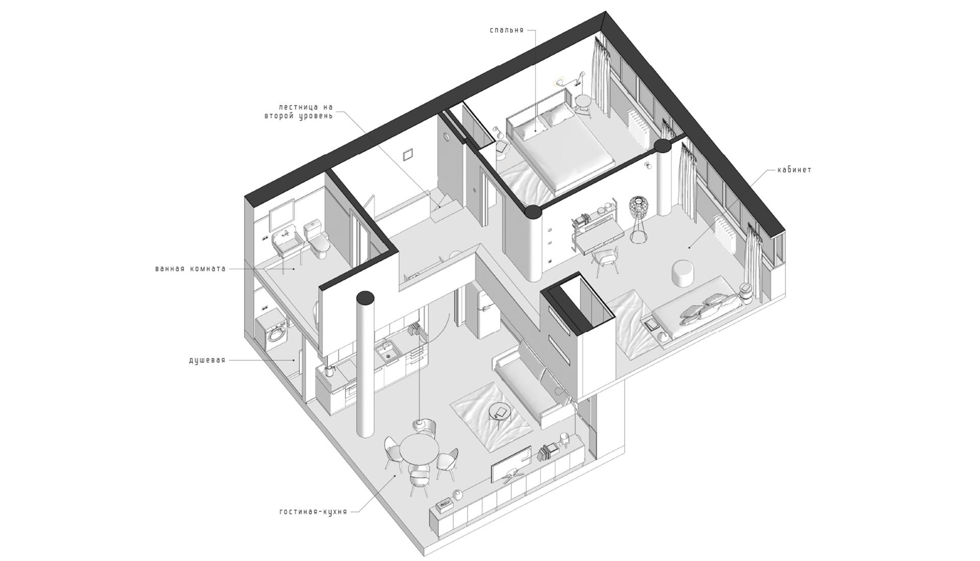 Планировка квартиры в доме наркомфина фото