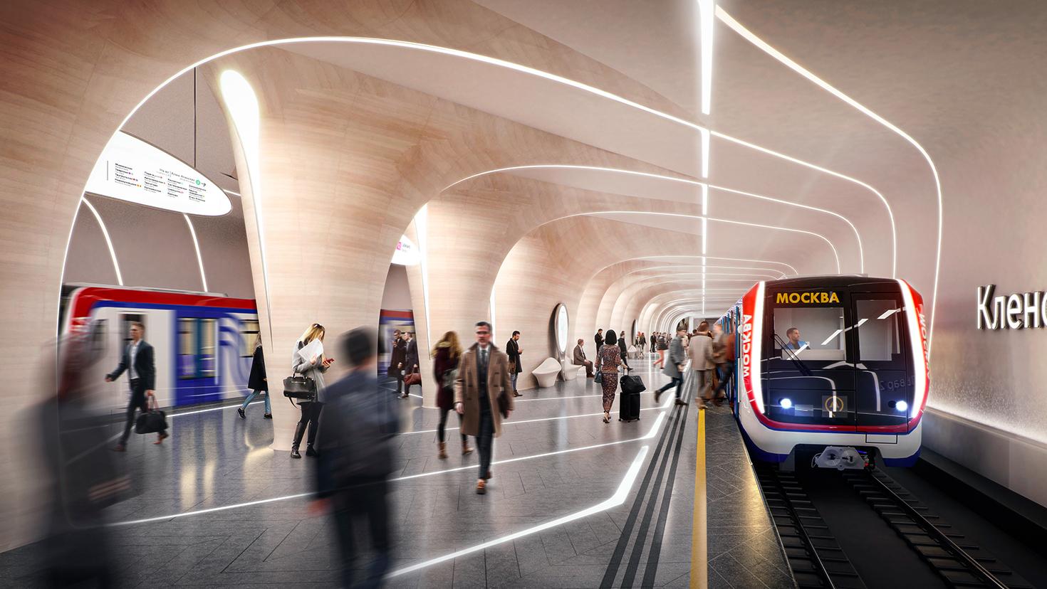 Станция метро в Москве Заха Хадид фото