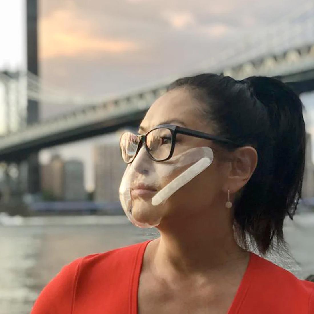 Прозрачная маска фото