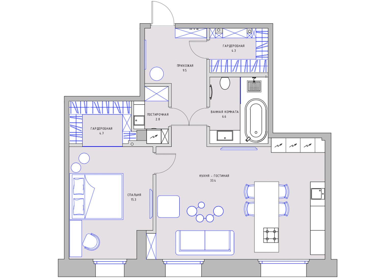 Планировка квартиры 85 кв метров фото