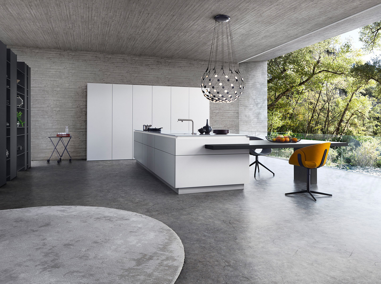 Дизайн кухни-гостиной фото