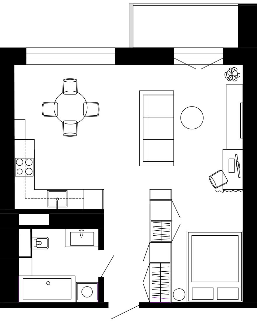 Планировка квартиры 50 кв. м фото
