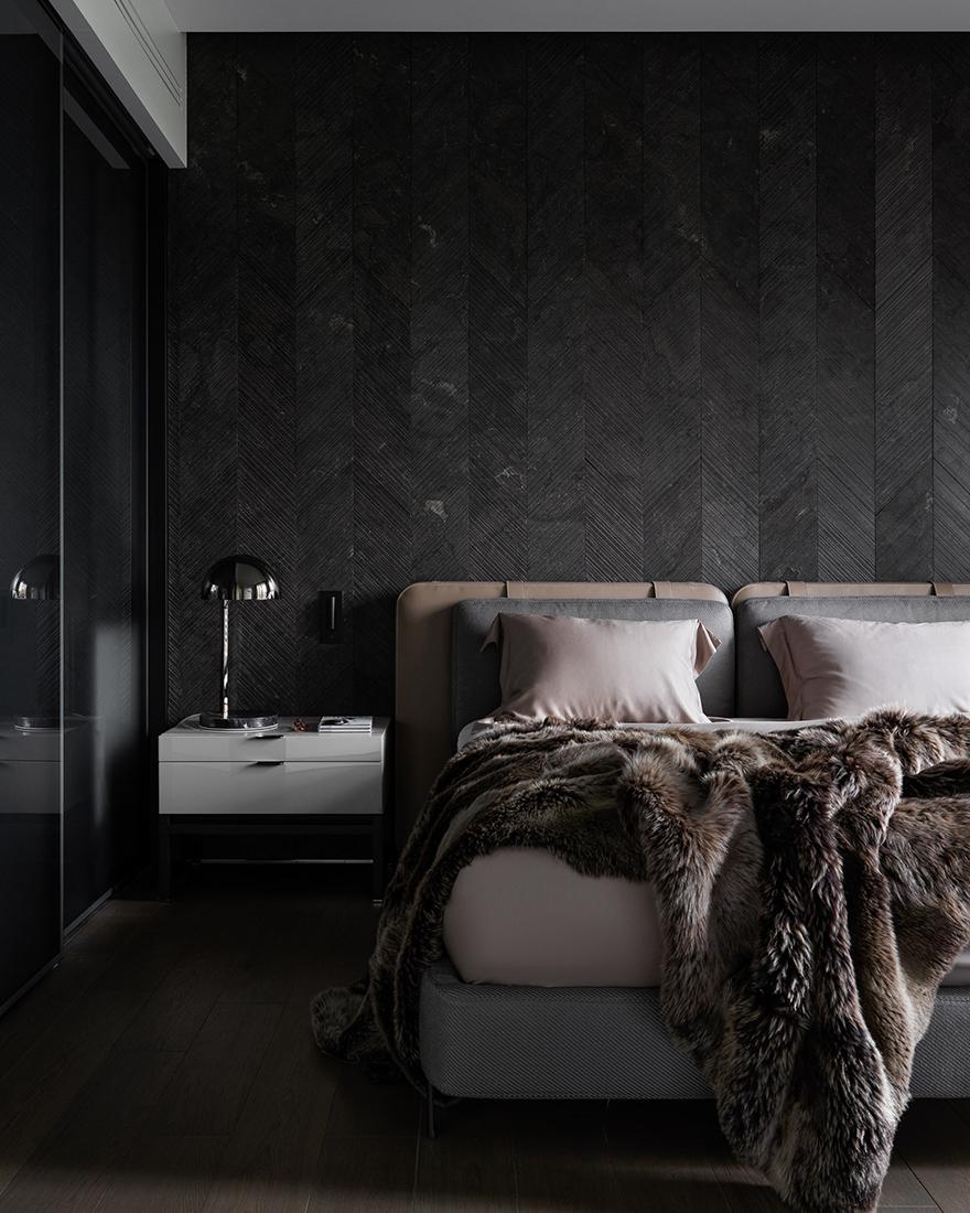 Темная спальня фото