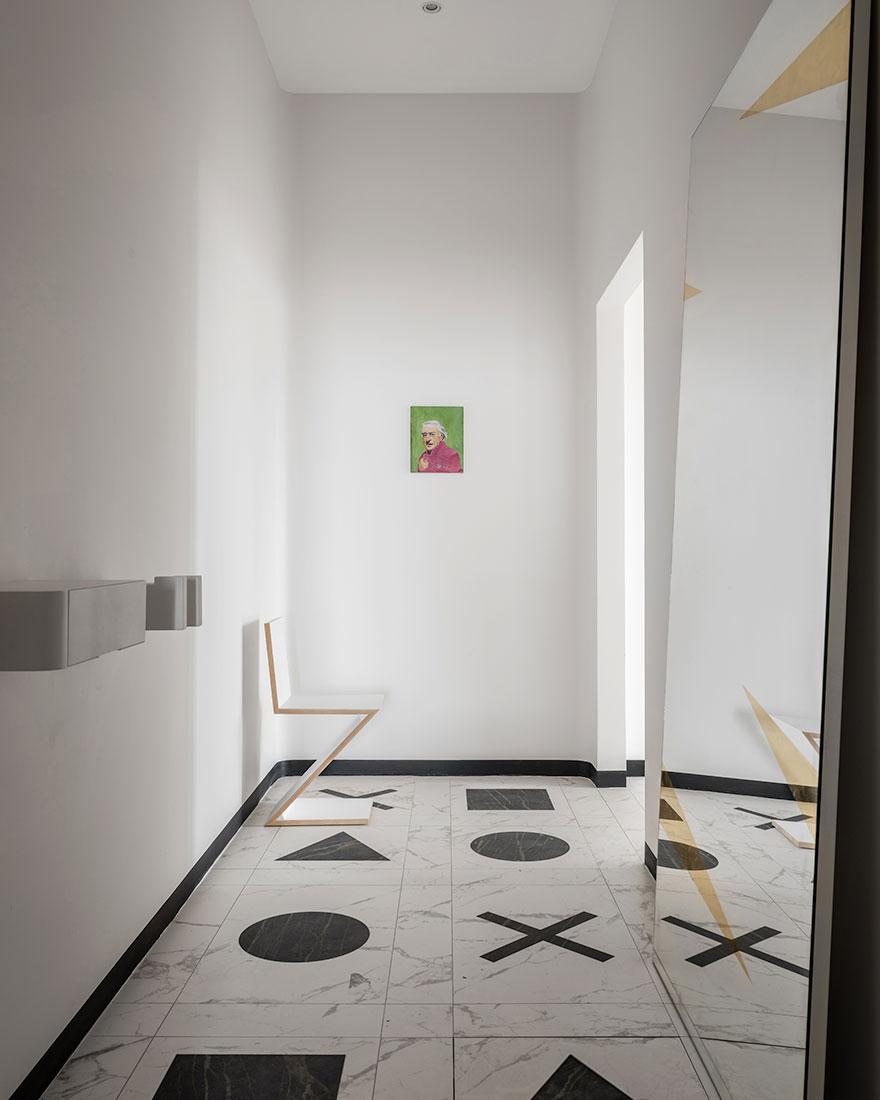 Черно-белая квартира фото