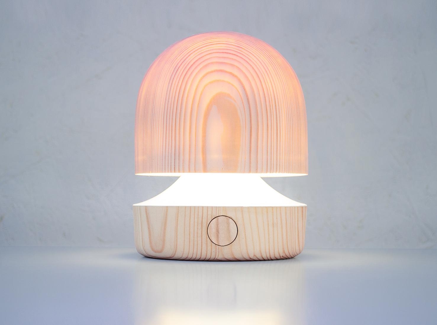 Деревянная лампа фото