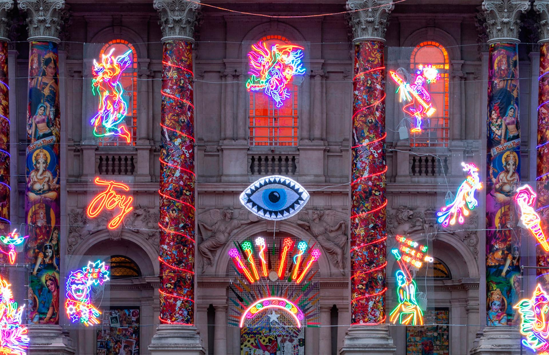 Рождественские фасады фото