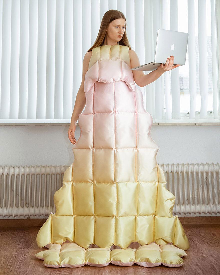 Платье-одеяло фото