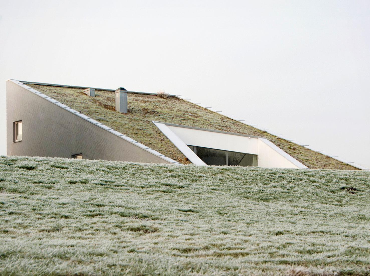 дом с зеленой крышей фото
