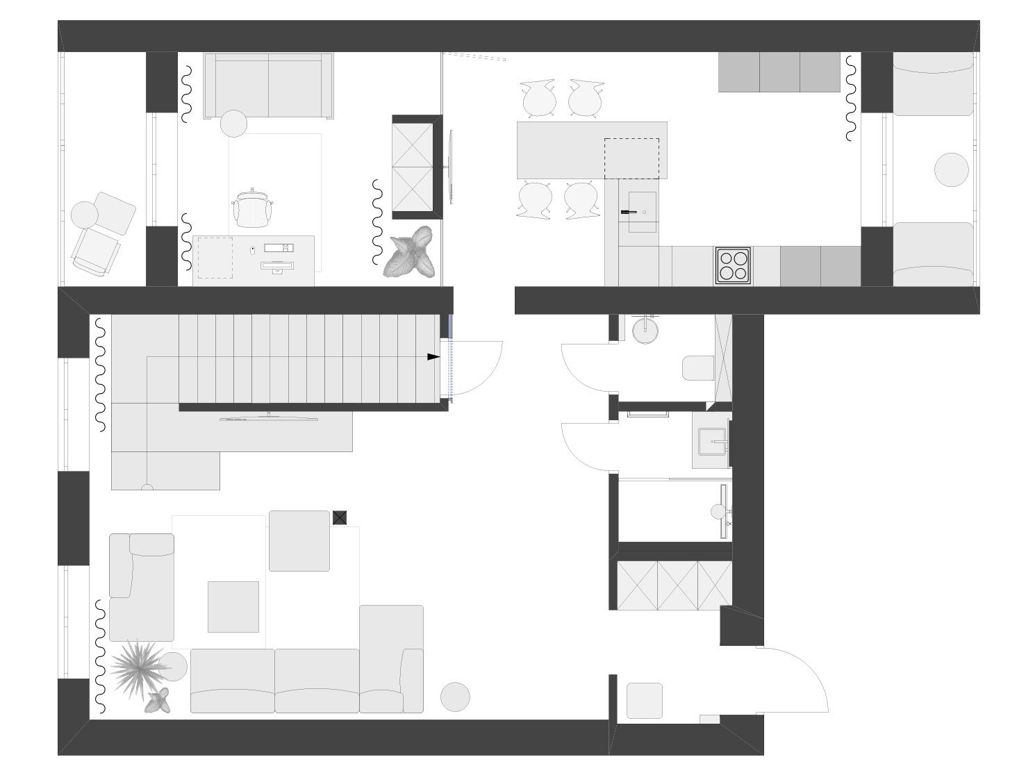 Планировка двухэтажной квартиры фото