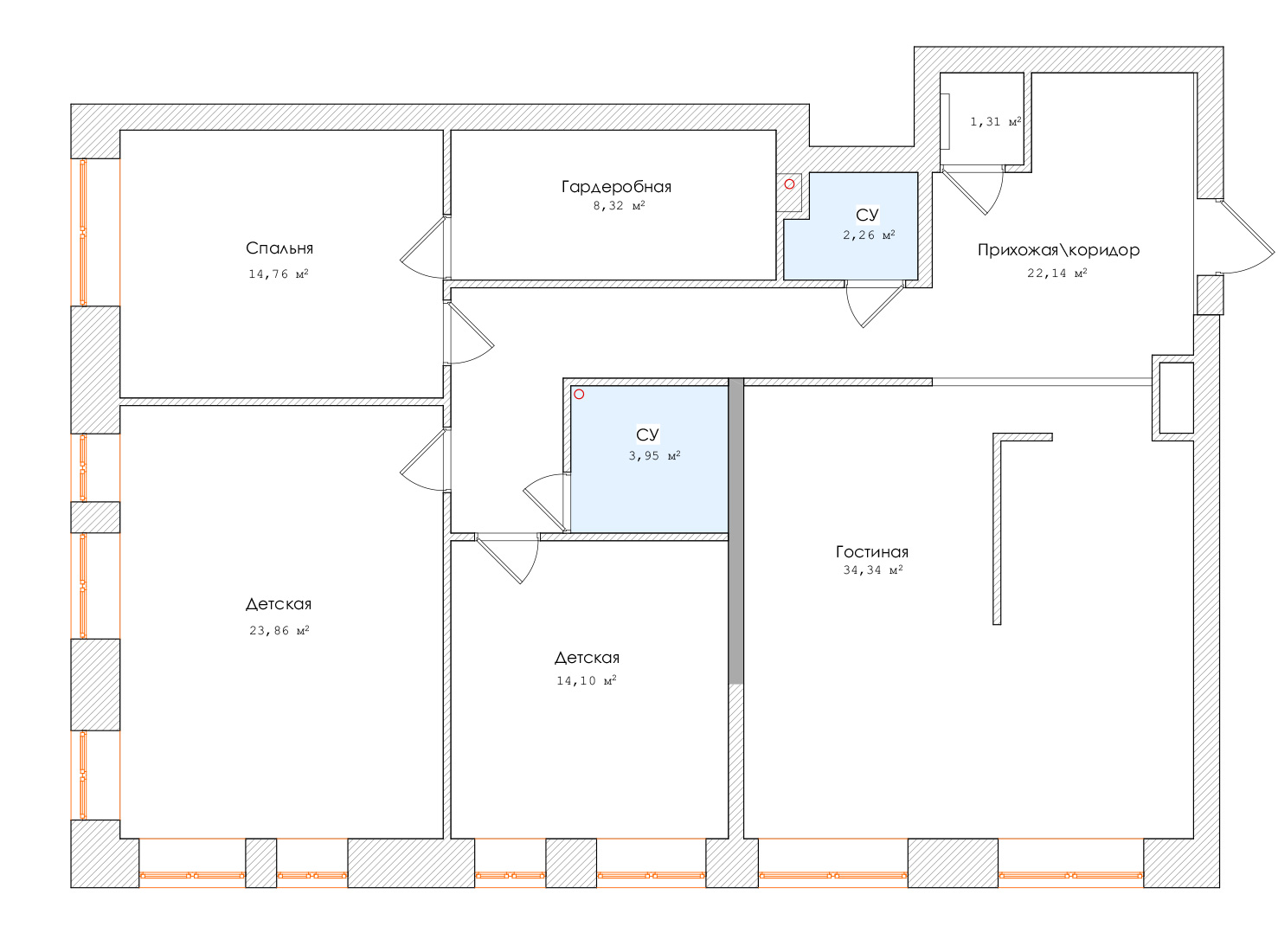 Перепланировка квартиры 120 кв метров фото
