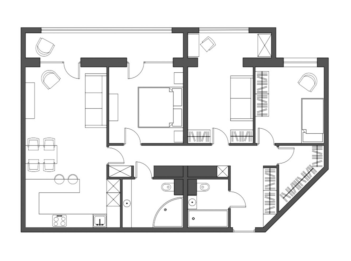 объединение квартир планировка фото