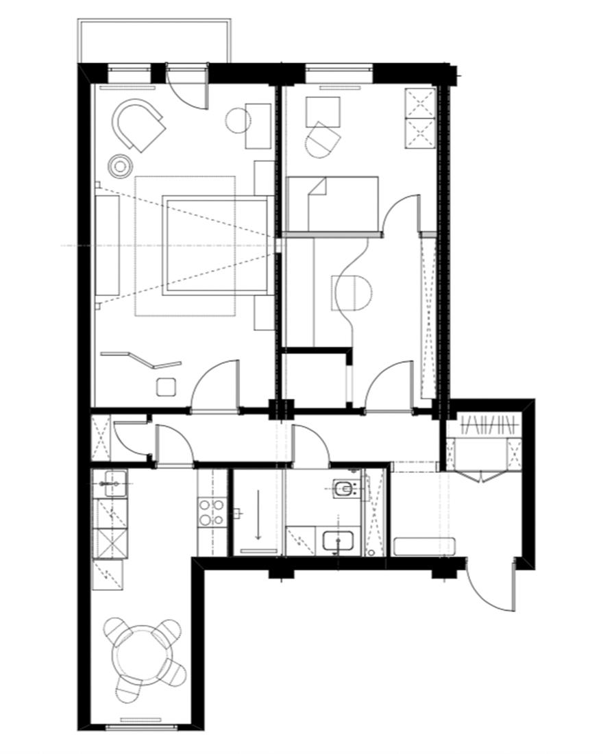 Планировка квартиры в сталинском доме фото