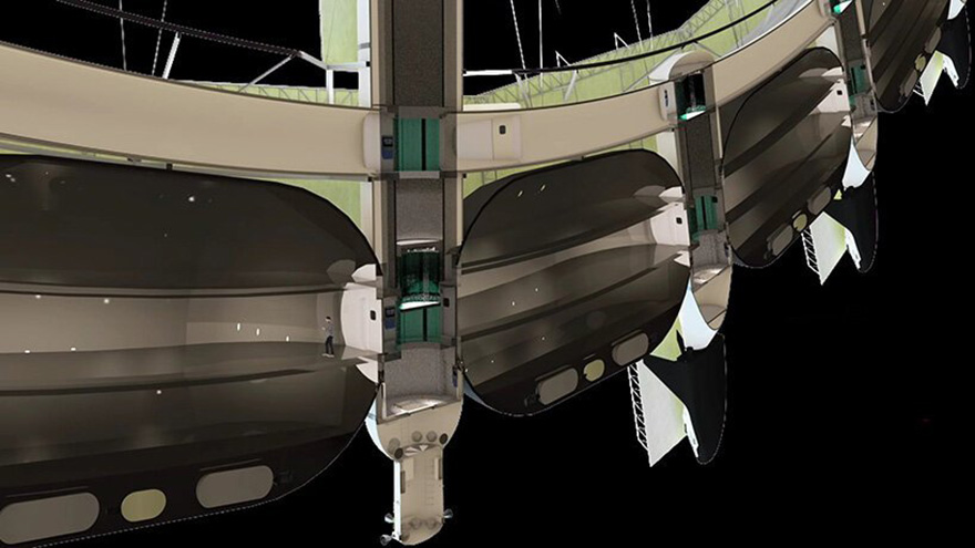 Отель в космосе фото