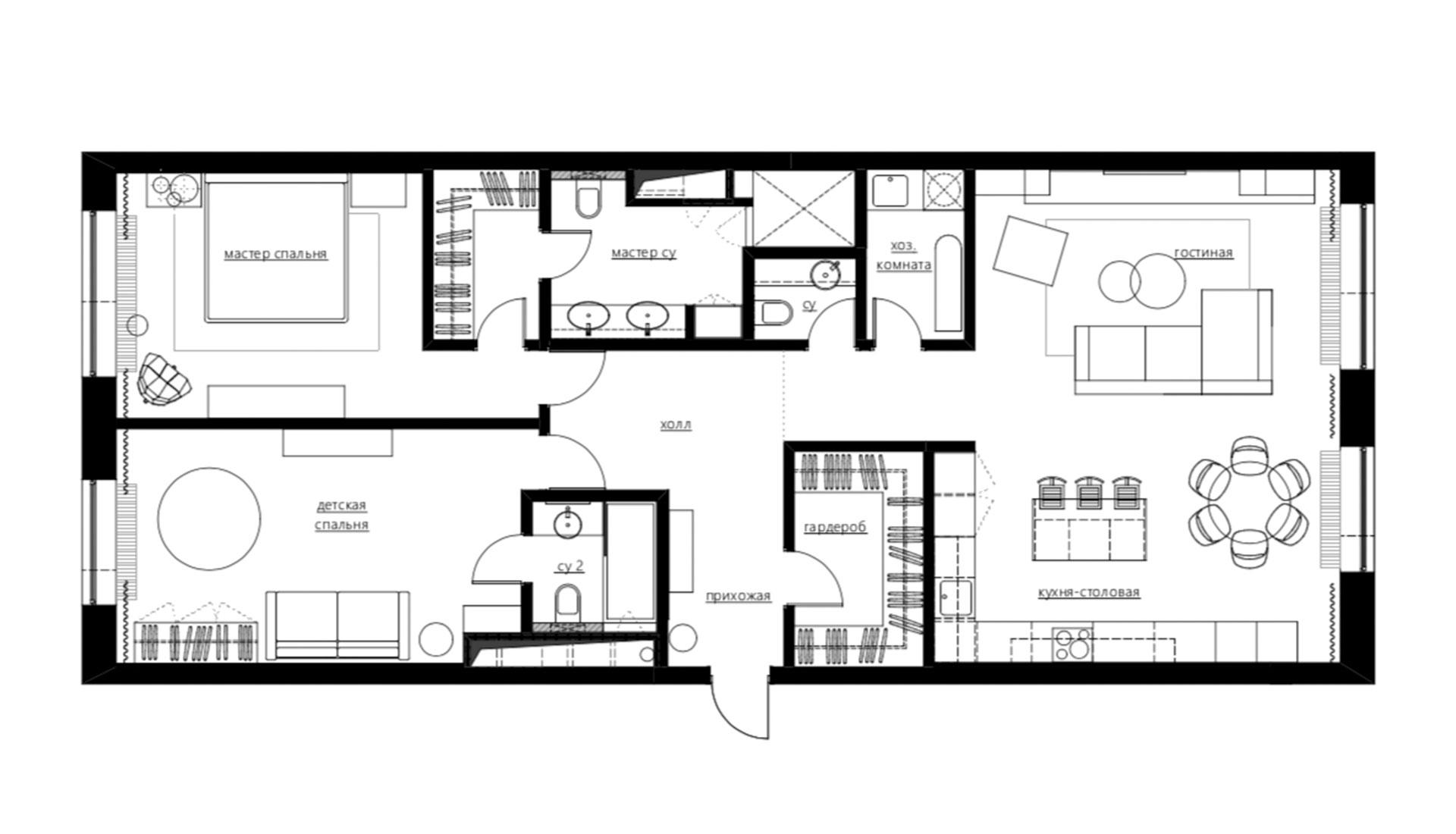 Планировка квартиры 130 кв. метров фото